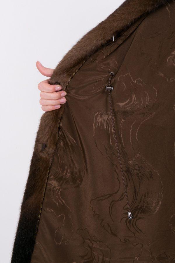 Шуба Fursini из норки коричневая