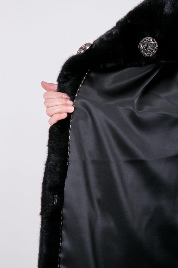 Шуба Fursini из корки черная