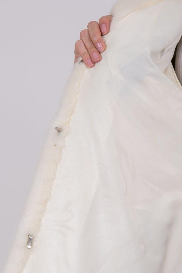 Шуба Fursini из норки белая