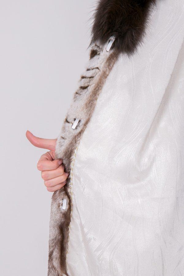 Шуба из скандинавской норки серая