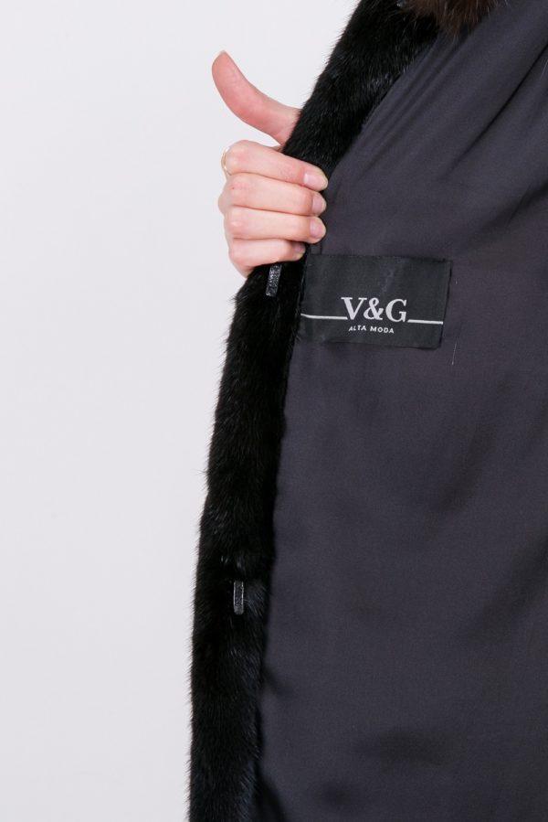 Шуба V&G из корки черная
