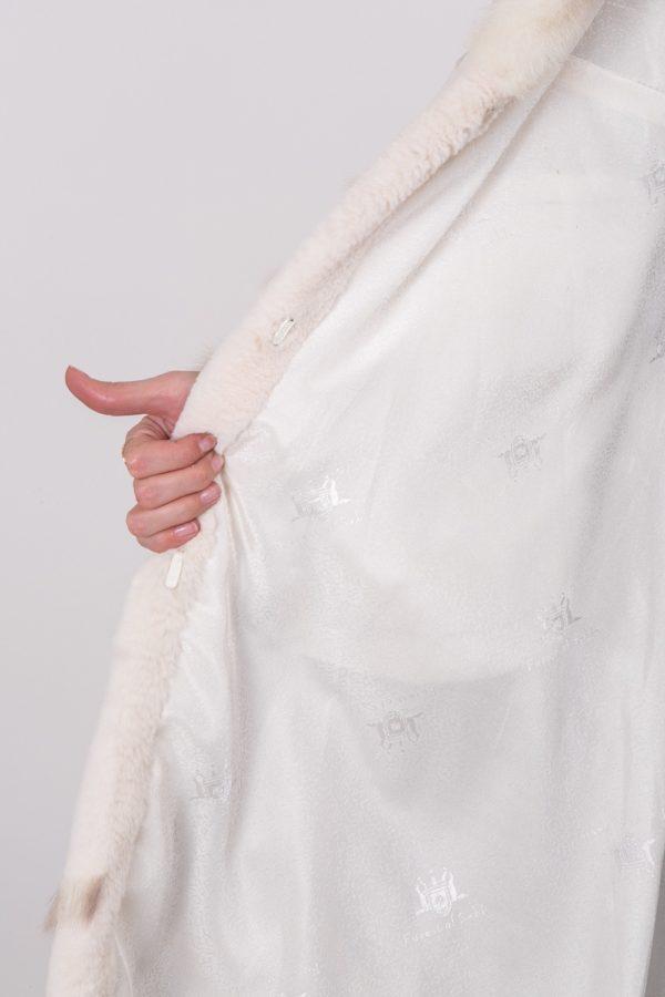 Шуба Fursini из каракуля, белая
