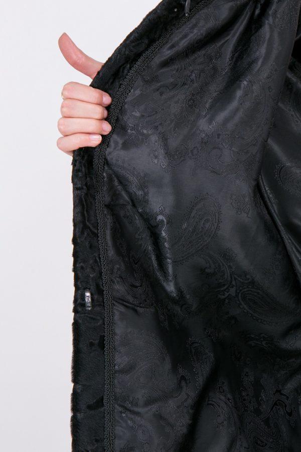 Шуба Fursini из каракуля, черная