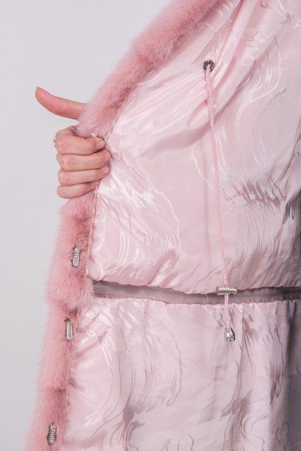 Жилетка Fursini из норки розовая