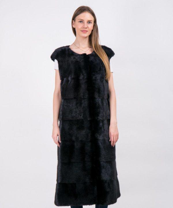 Жилетка Fursini из норки черная