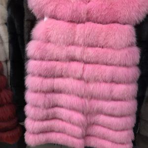 Жилетка Fursini из песца розовая