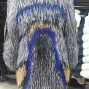 Шуба Fursini из вязаной чернобурки