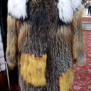 Шубка Fursini из вязаной лисы