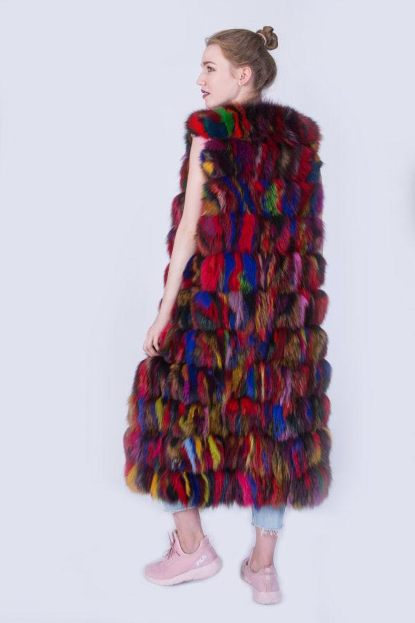 Жилетка Fursini из финского песца цветная