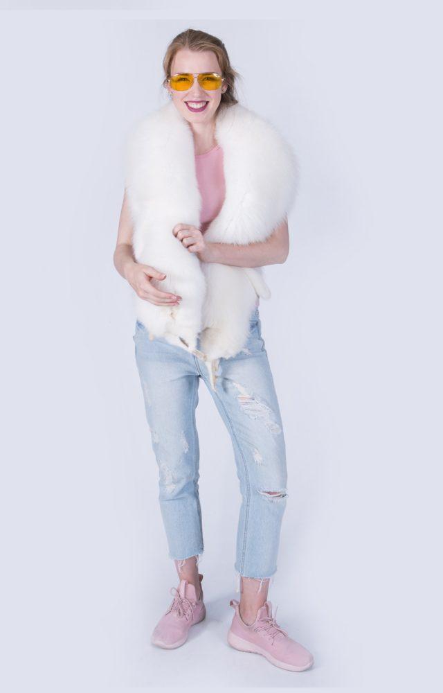 Жилетка Fursini из белой лисы