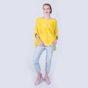 Куртка Fursini из норки желтая