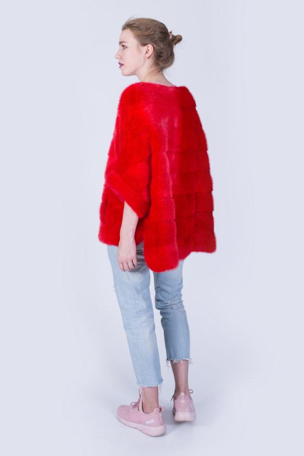 Куртка Fursini из норки красная