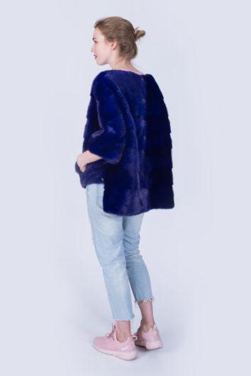 Куртка Fursini из норки синяя