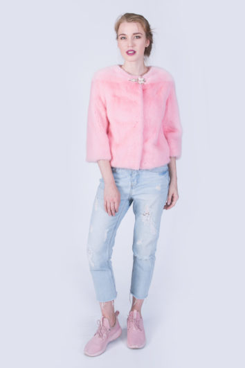 Куртка Fursini из норки розовая