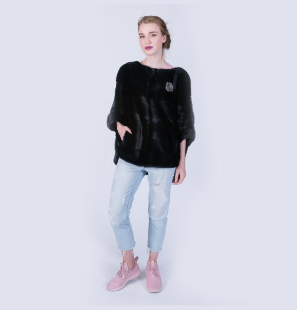 Куртка Fursini из норки черная