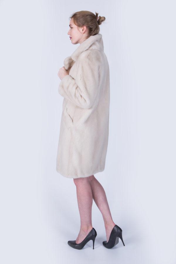 Пальто Fursini из норки жемчуг