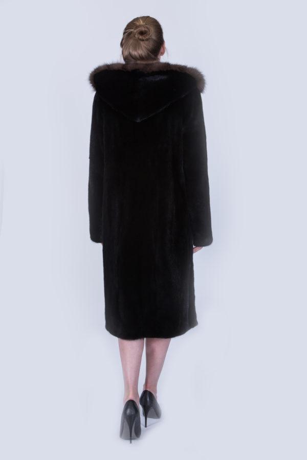 Шуба Fursini из норки черная