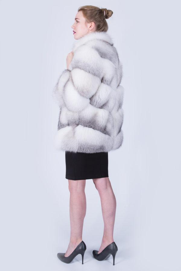 Шуба Fursini из полярной лисы