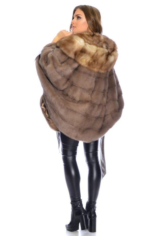Шуба Fursini из норки, коричневая