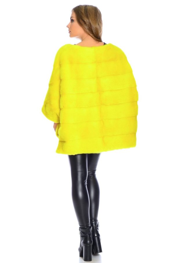 Шуба Fursini из норки, желтая