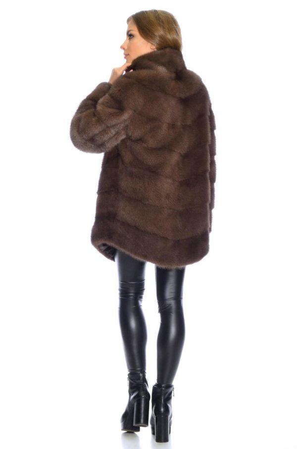 Шуба Fursini из канадской норки, коричневая