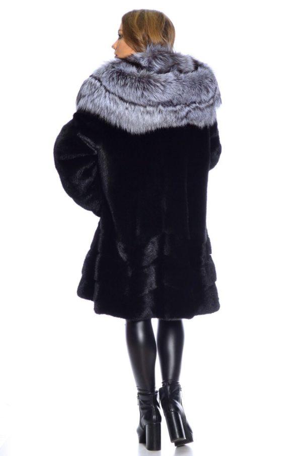 Шуба Fursini из норки, черная