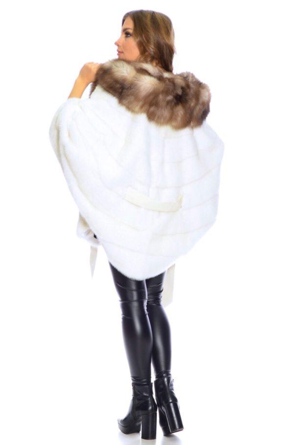 Шуба Fursini из норки, белая