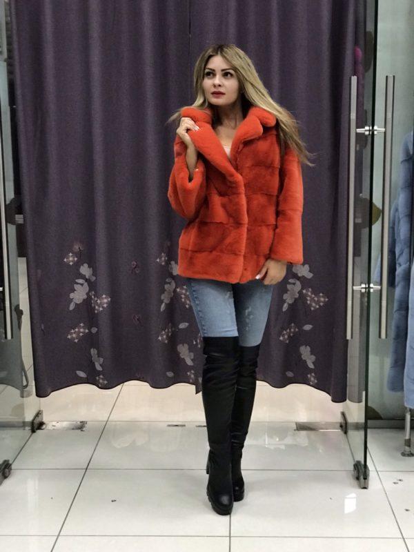 Куртка Fursini из норки, оранжевая